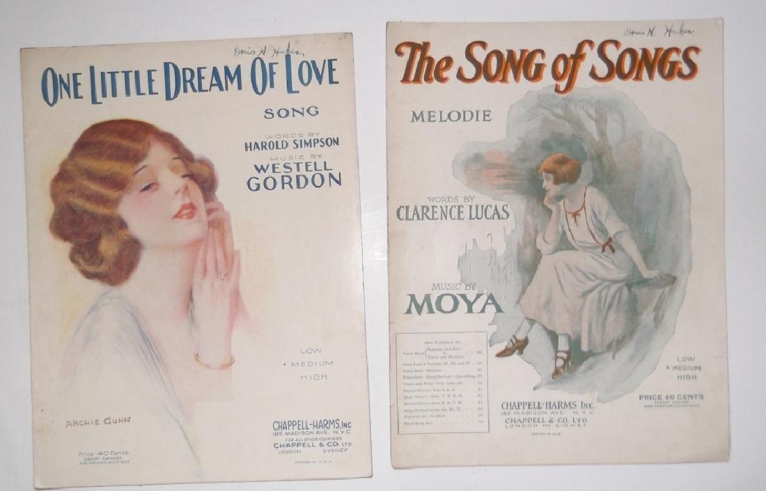 37 ORIGINAL VINTAGE SHEET MUSIC LOT EARLY 1900s - 8