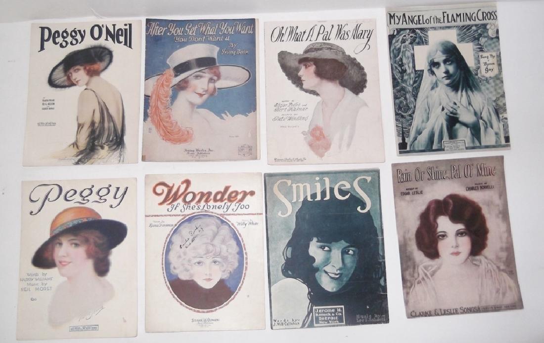 37 ORIGINAL VINTAGE SHEET MUSIC LOT EARLY 1900s - 9