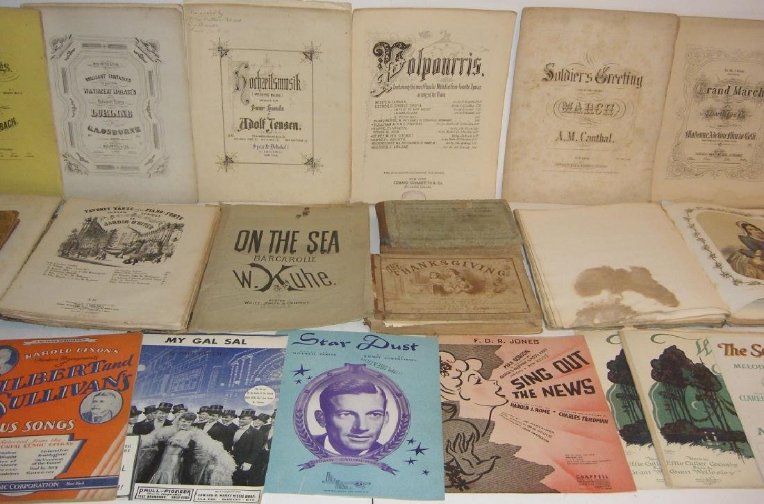 29 pieces 18th/19th century sheet music