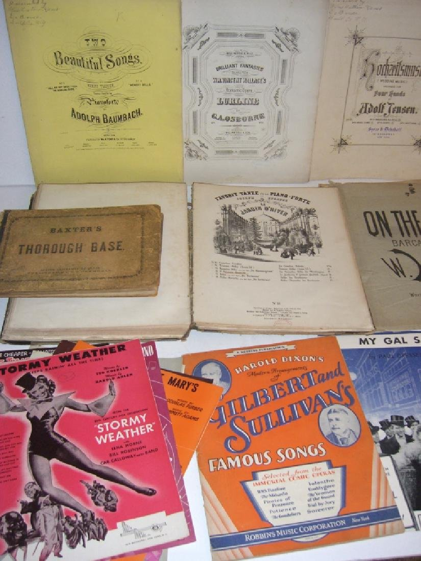29 pieces 18th/19th century sheet music - 5