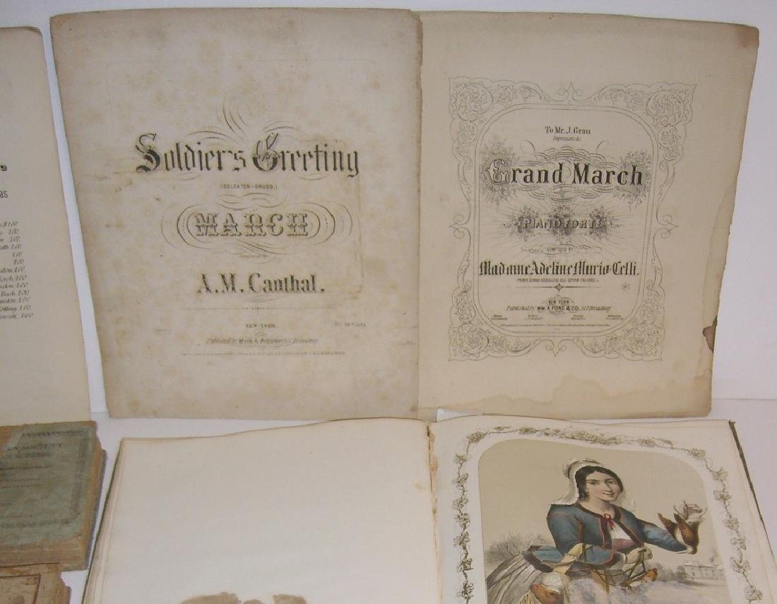 29 pieces 18th/19th century sheet music - 7