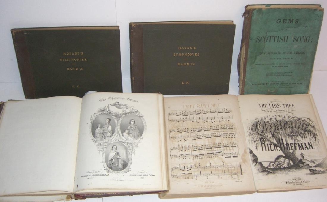 5 books 18th/19th century sheet music