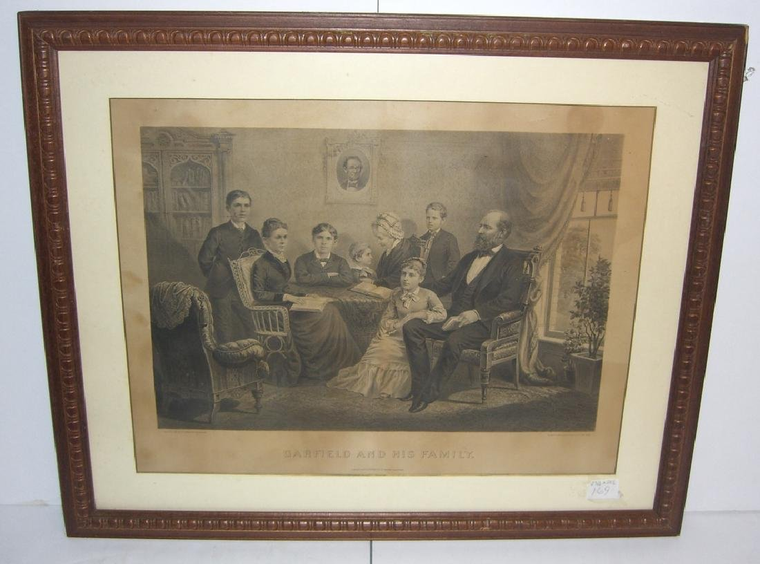 1881 lithograph Garfield and his family
