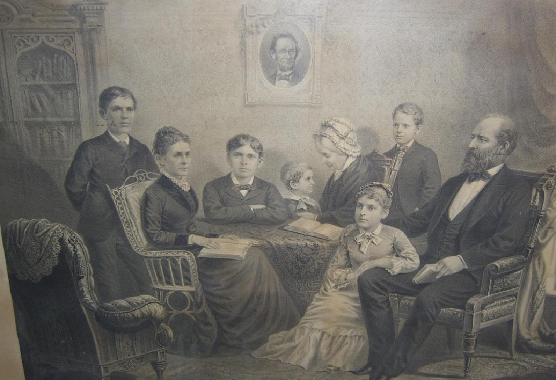 1881 lithograph Garfield and his family - 3