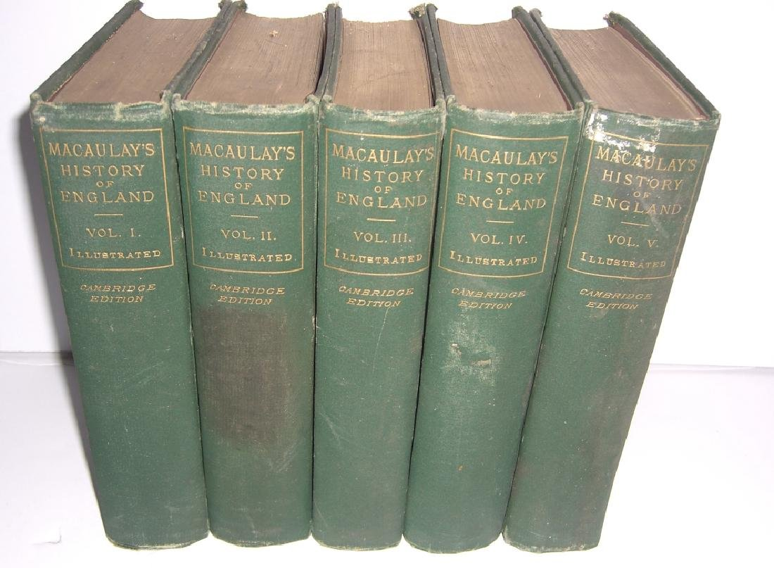 Macaulay's History of England Vol. I-V books