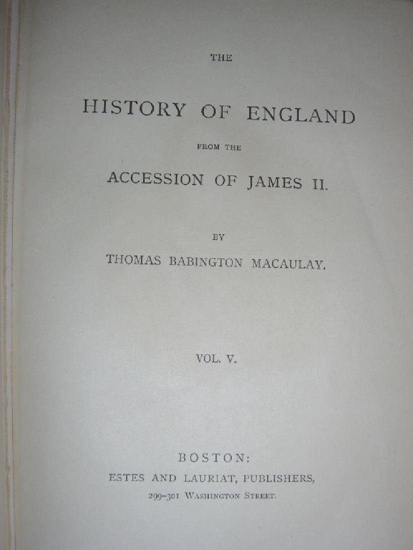 Macaulay's History of England Vol. I-V books - 2