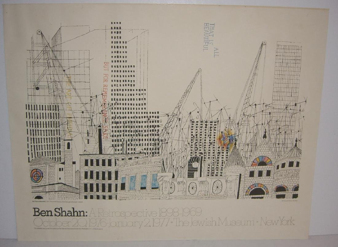 1977 Ben Shahn exhibition poster