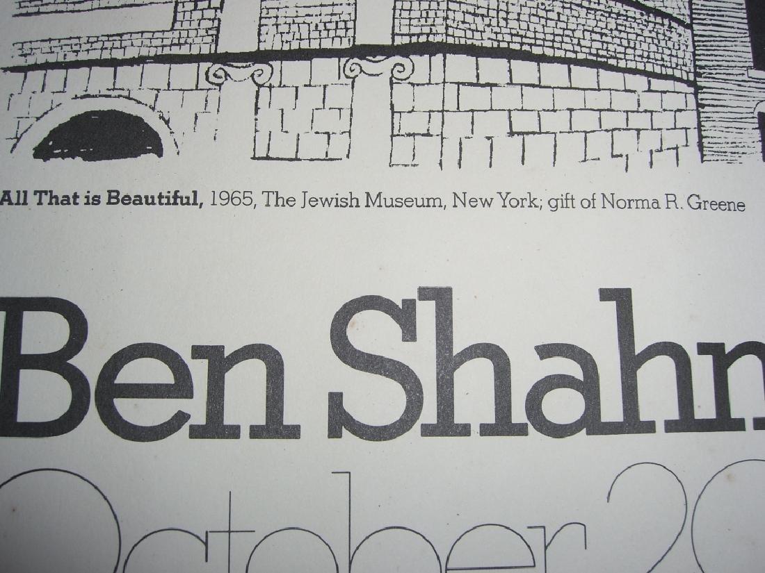 1977 Ben Shahn exhibition poster - 2