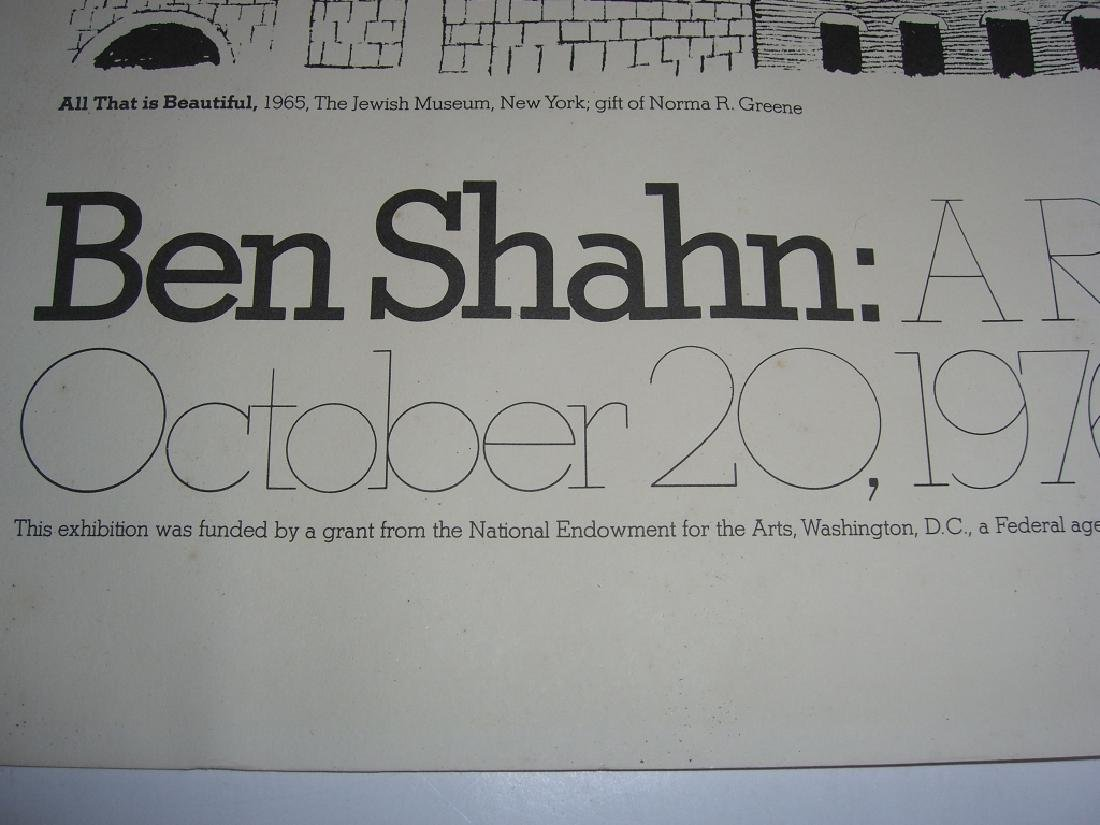1977 Ben Shahn exhibition poster - 6