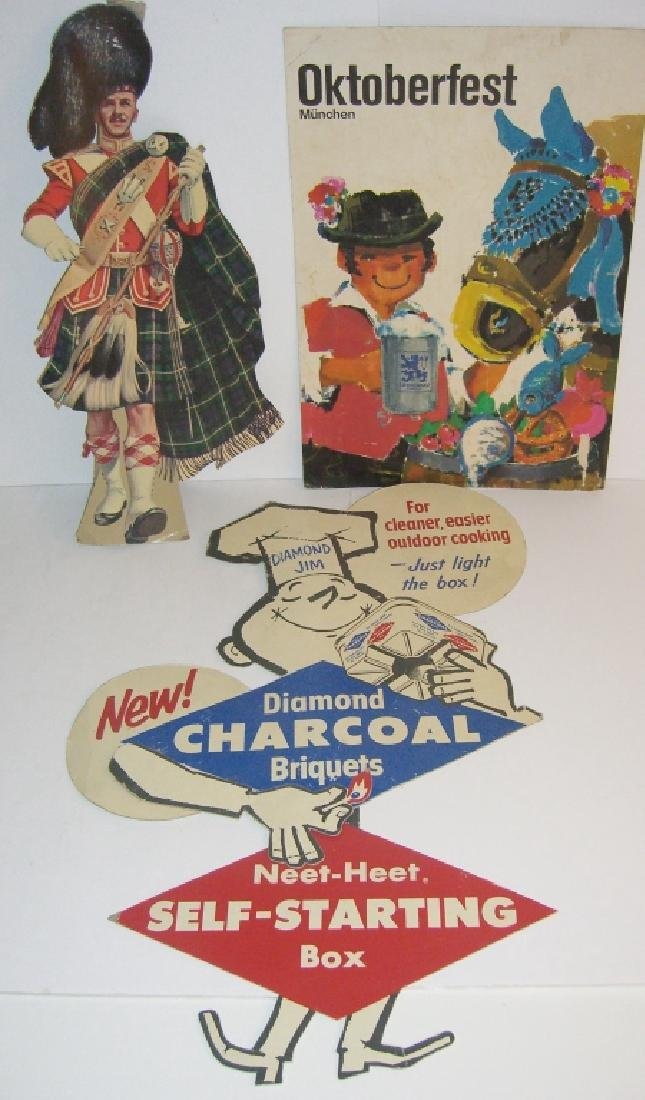 3 vintage store advertising cardboard displays