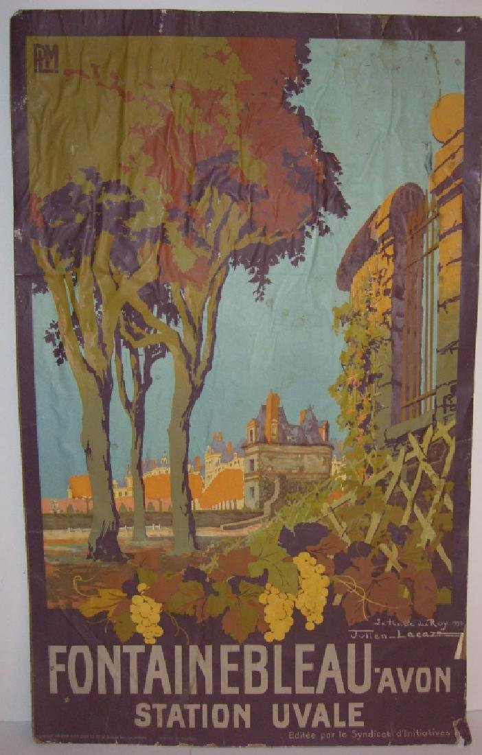 1933 Fontainebleau Avon station Uvale poster