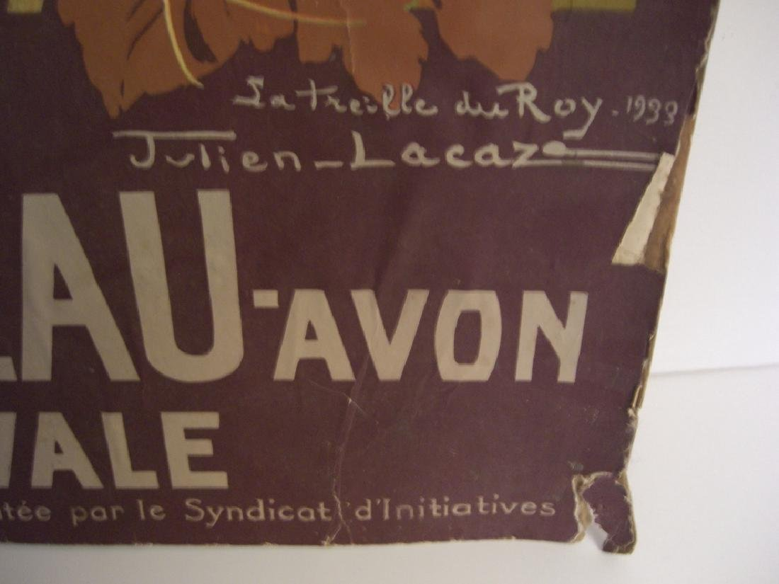 1933 Fontainebleau Avon station Uvale poster - 3