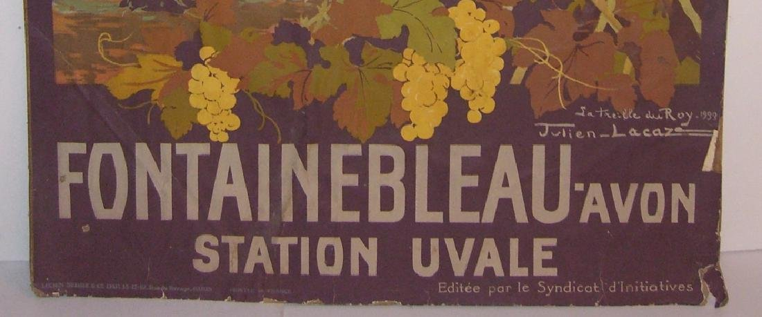 1933 Fontainebleau Avon station Uvale poster - 7