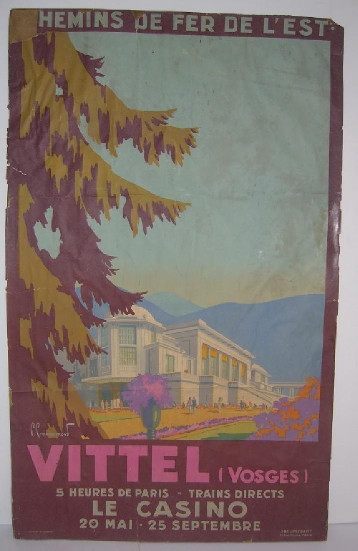 Chemins de Fer de L'Etat  Vittel Vosges poster