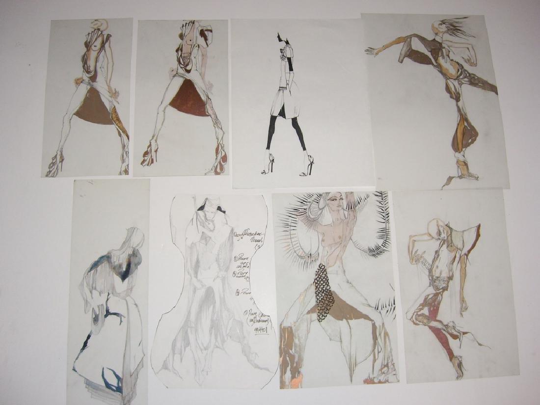 13 pieces original fashion illustration drawings