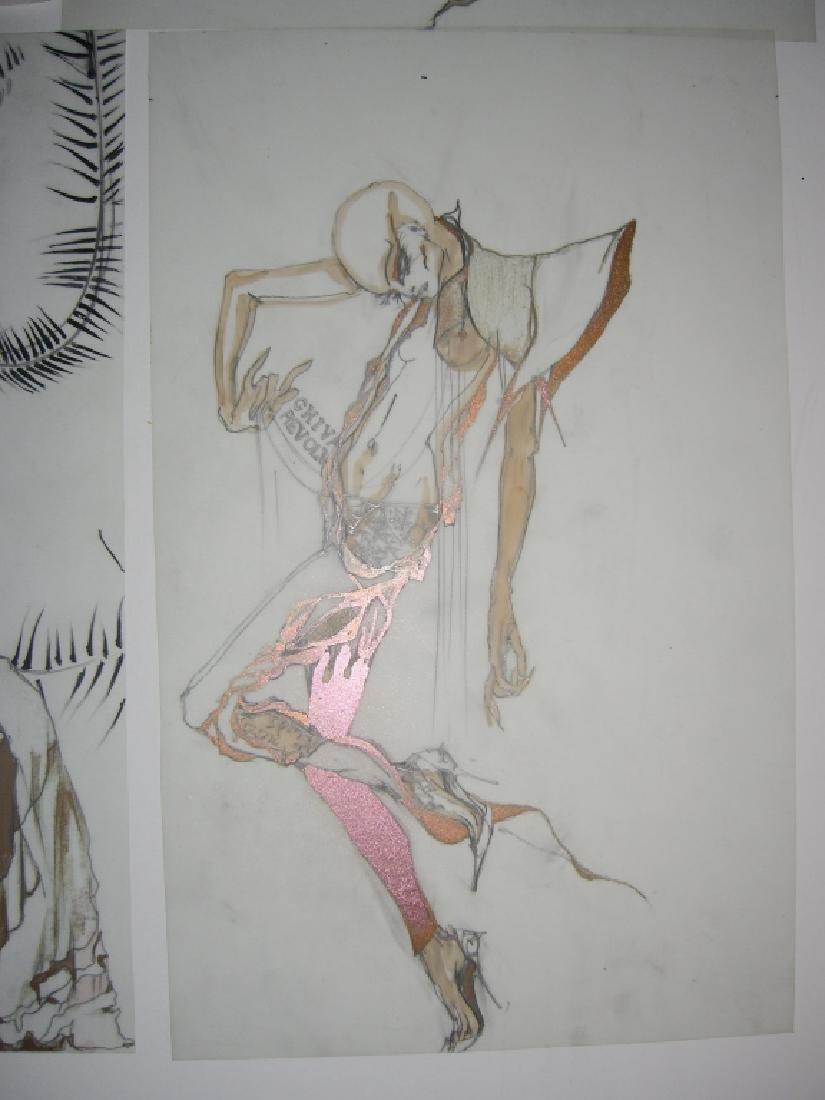 13 pieces original fashion illustration drawings - 2