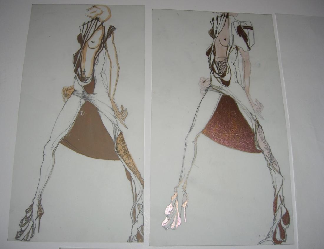 13 pieces original fashion illustration drawings - 3