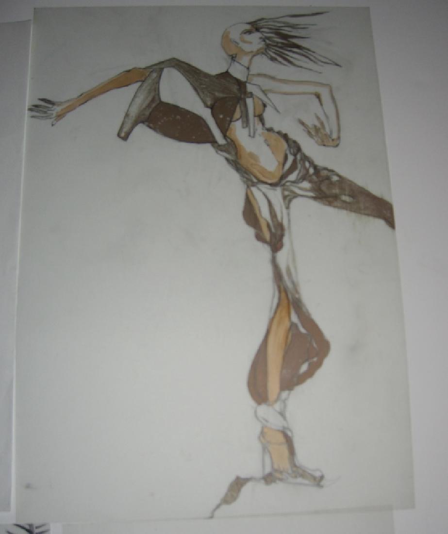 13 pieces original fashion illustration drawings - 4