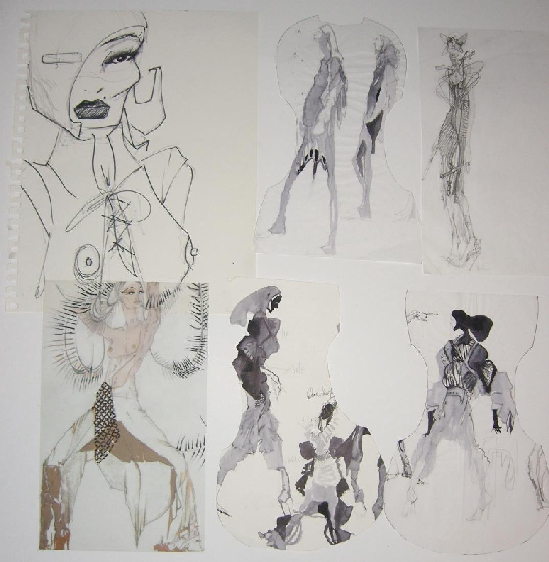 13 pieces original fashion illustration drawings - 5