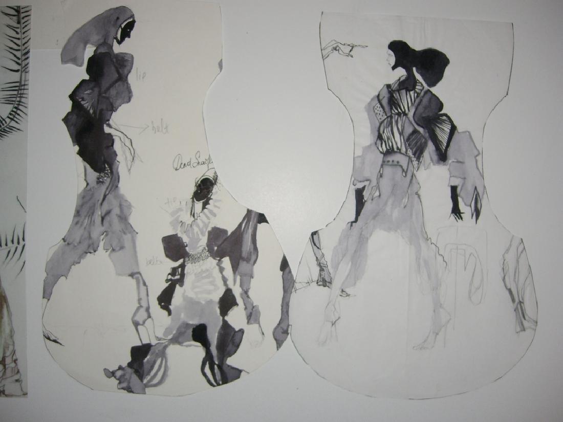 13 pieces original fashion illustration drawings - 6
