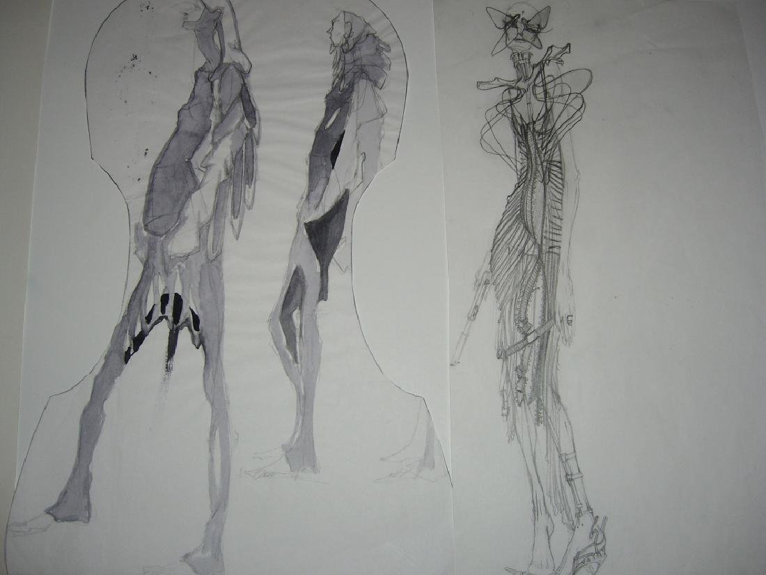 13 pieces original fashion illustration drawings - 7