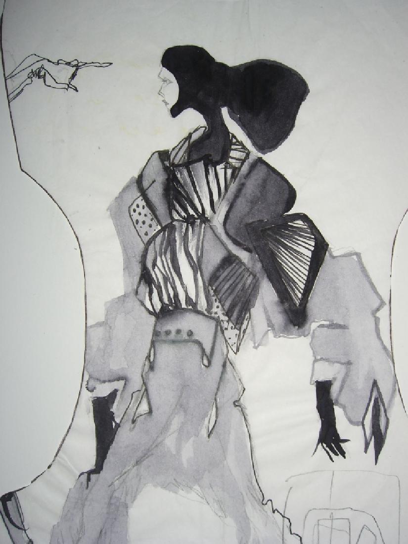 13 pieces original fashion illustration drawings - 8