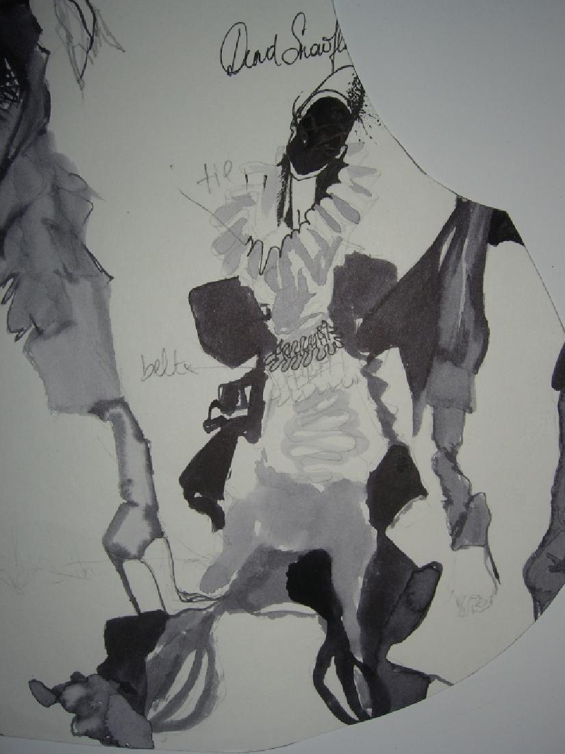 13 pieces original fashion illustration drawings - 9