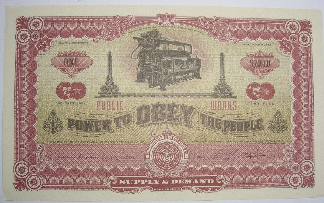 Rare Shepard Fairey Obey The Giant Money