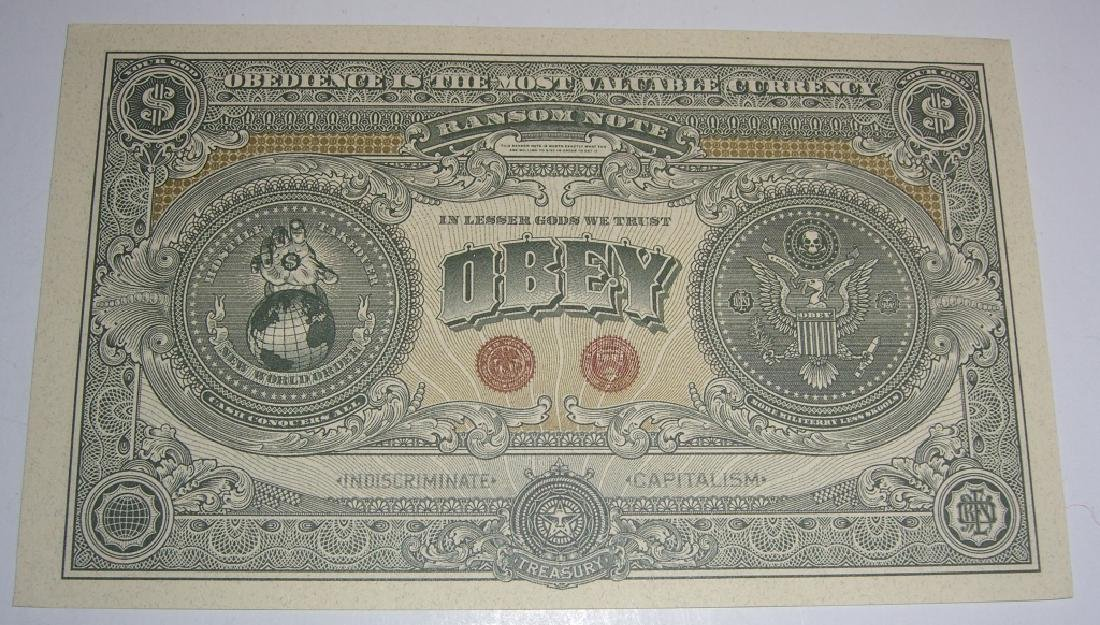 Rare Shepard Fairey Obey The Giant Money - 2