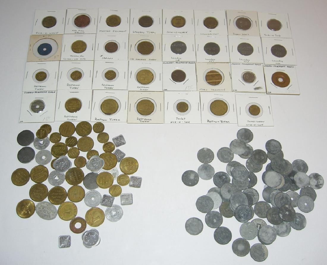 147 vintage mixed  tokens lot