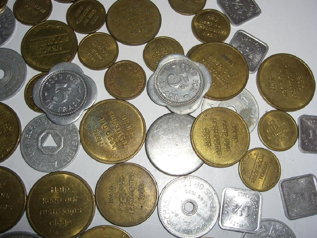 147 vintage mixed  tokens lot - 3