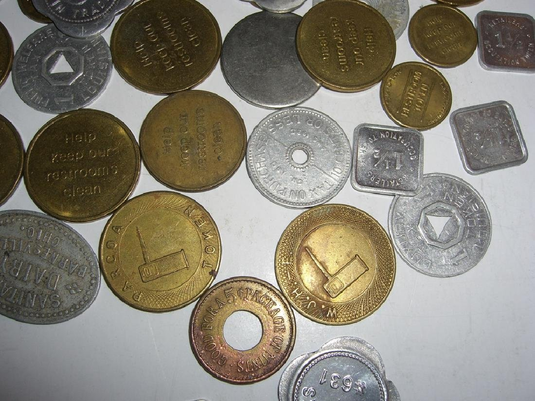 147 vintage mixed  tokens lot - 4