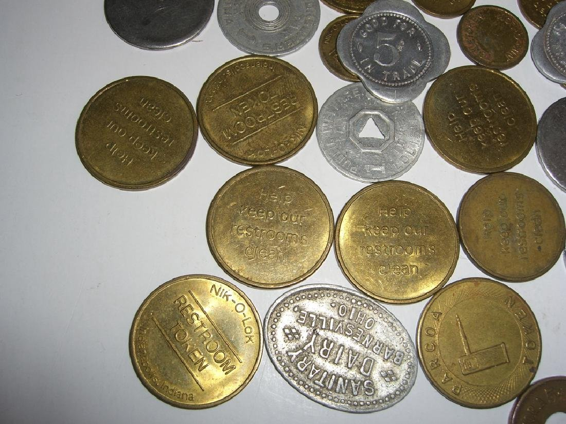 147 vintage mixed  tokens lot - 5