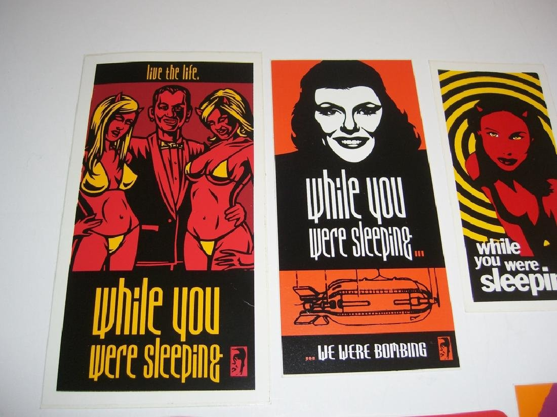 11 Obey Giant Shepard Fairey stickers - 2