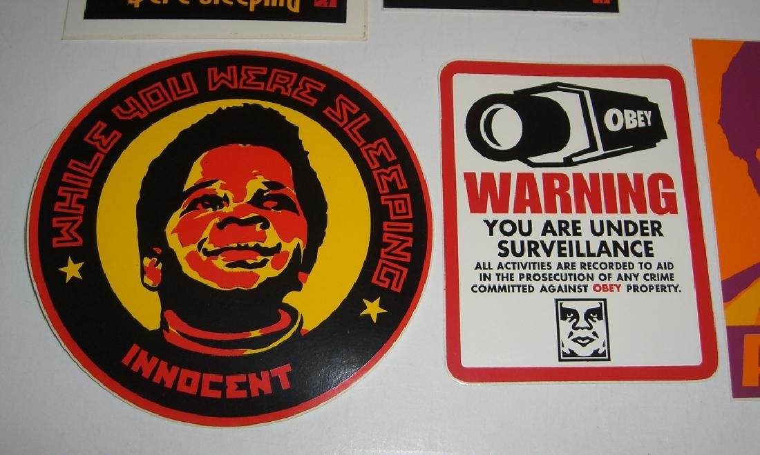 11 Obey Giant Shepard Fairey stickers - 5