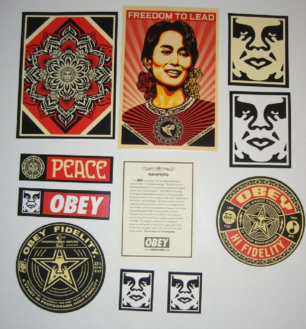 11 Obey Giant Shepard Fairey stickers