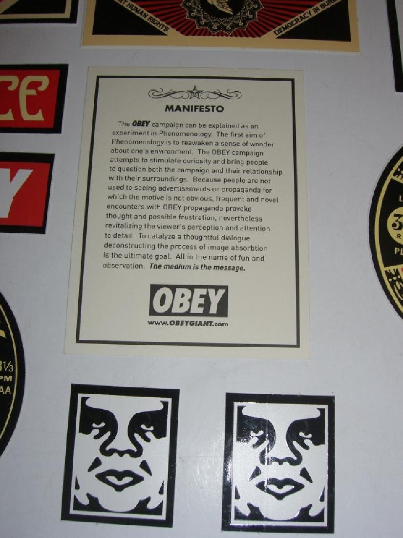 11 Obey Giant Shepard Fairey stickers - 3