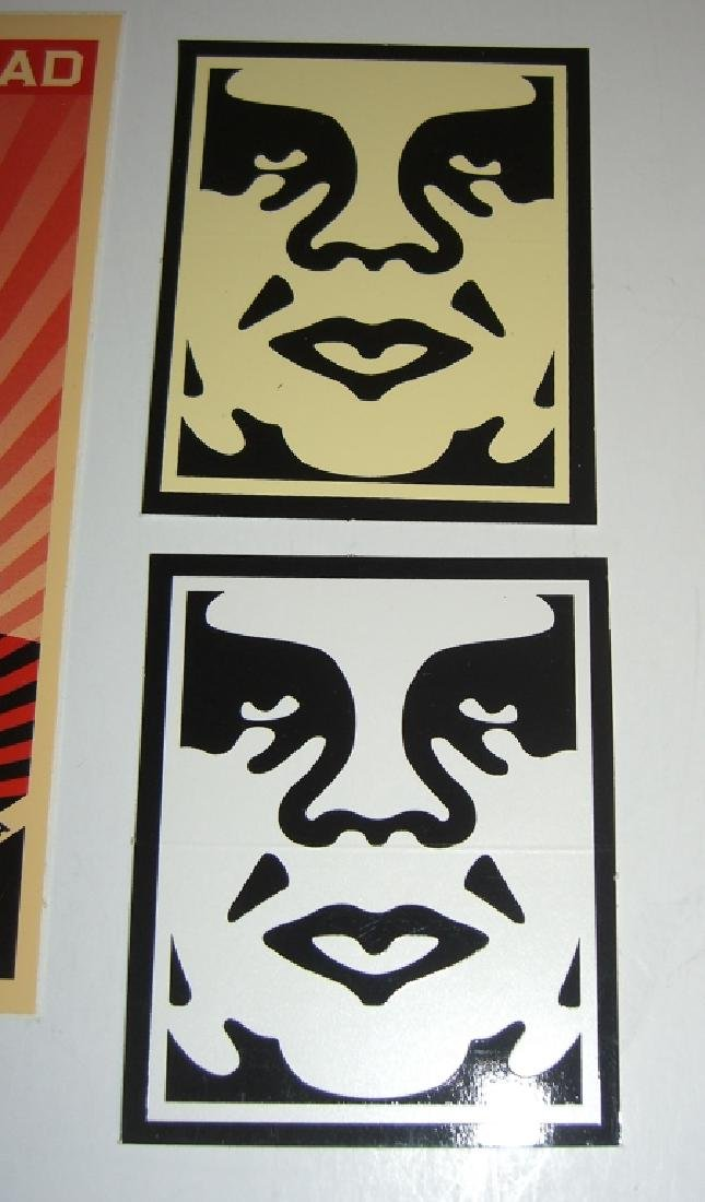 11 Obey Giant Shepard Fairey stickers - 4