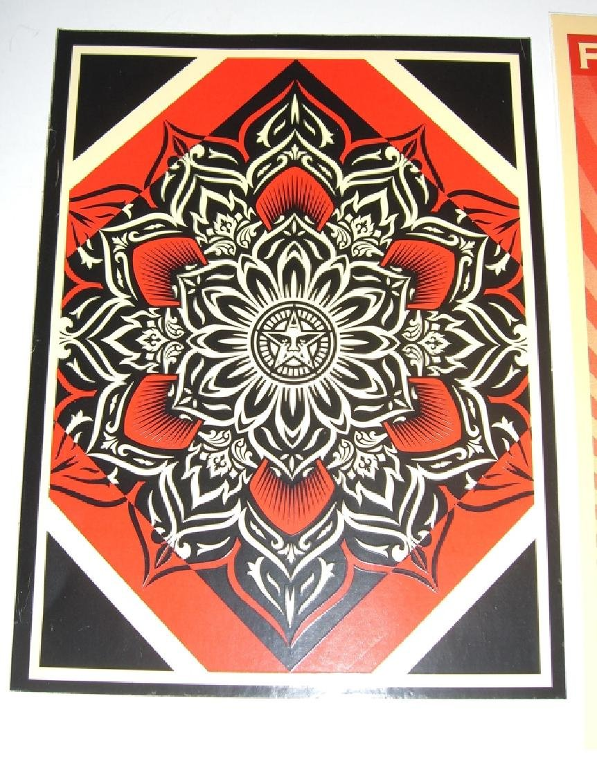 11 Obey Giant Shepard Fairey stickers - 6