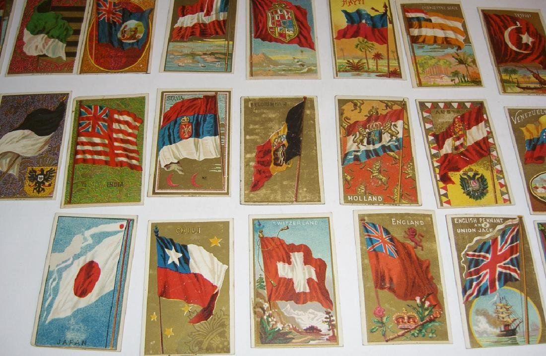 97 1887 Flags of  all Nations tobacco cards - 10