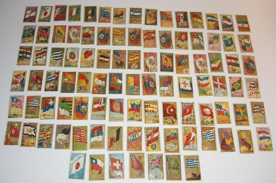 97 1887 Flags of  all Nations tobacco cards