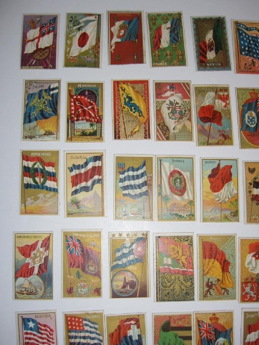 97 1887 Flags of  all Nations tobacco cards - 5