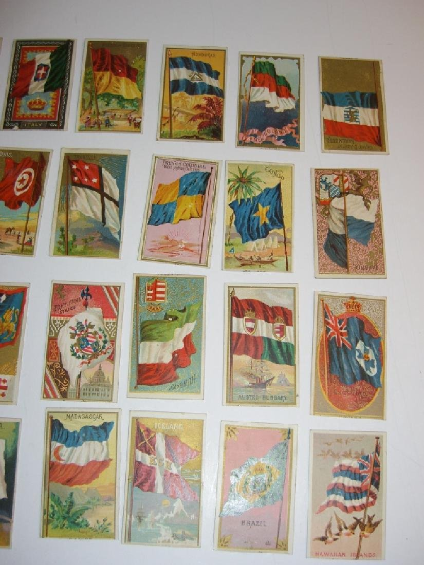 97 1887 Flags of  all Nations tobacco cards - 7