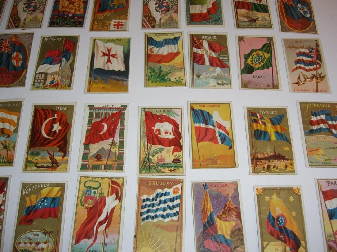 97 1887 Flags of  all Nations tobacco cards - 8