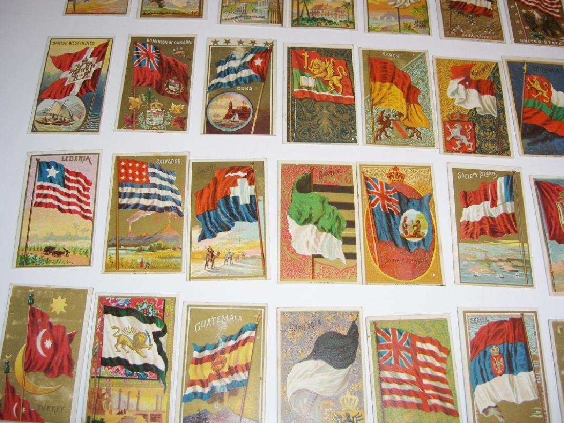 97 1887 Flags of  all Nations tobacco cards - 9
