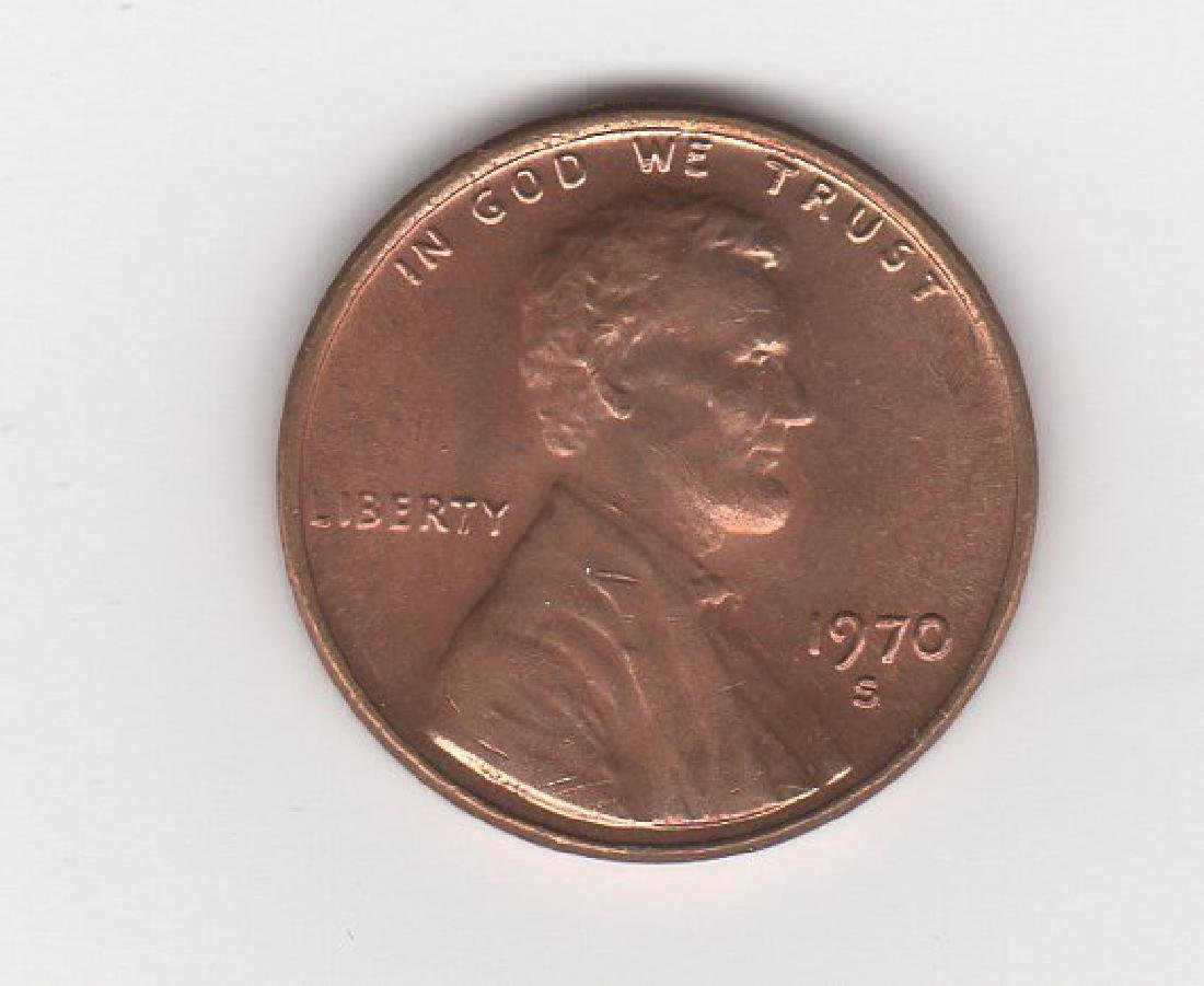 1970 S large date Lincoln 1c-one penny