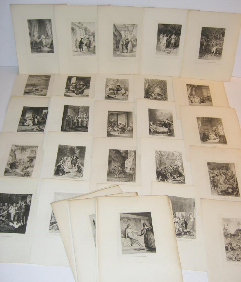 50 19th century engravings/etchings