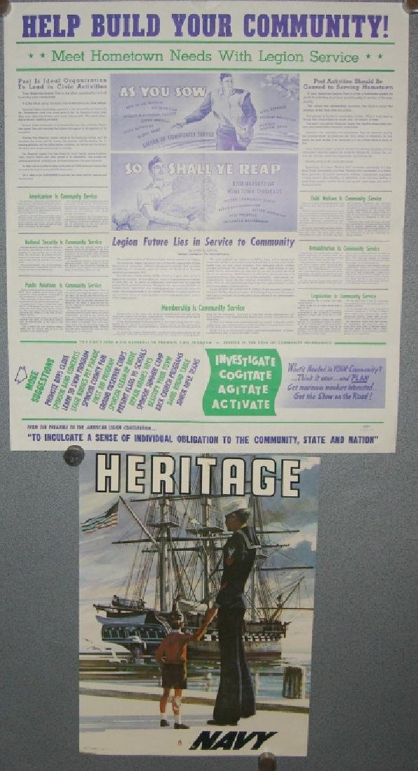 2 vintage military advertising posters