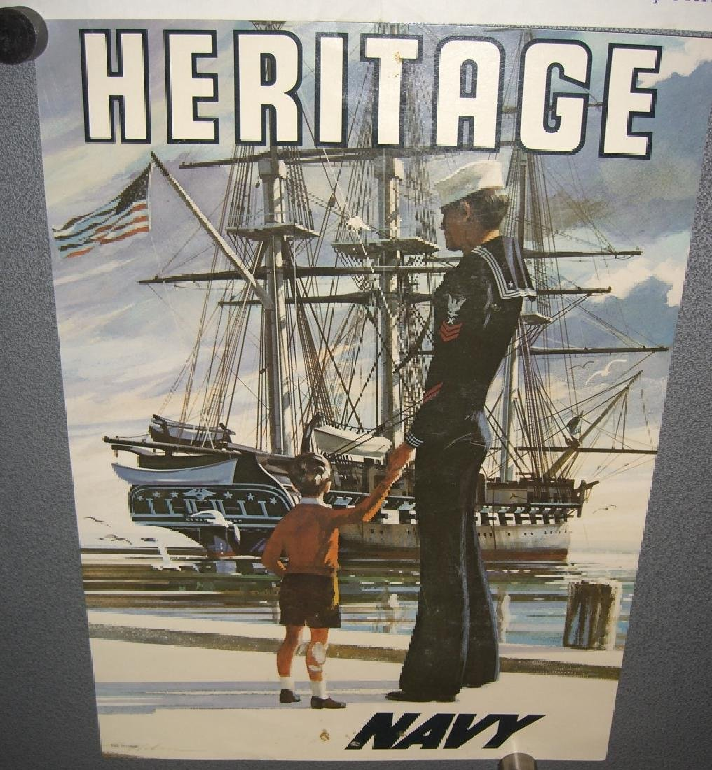 2 vintage military advertising posters - 4
