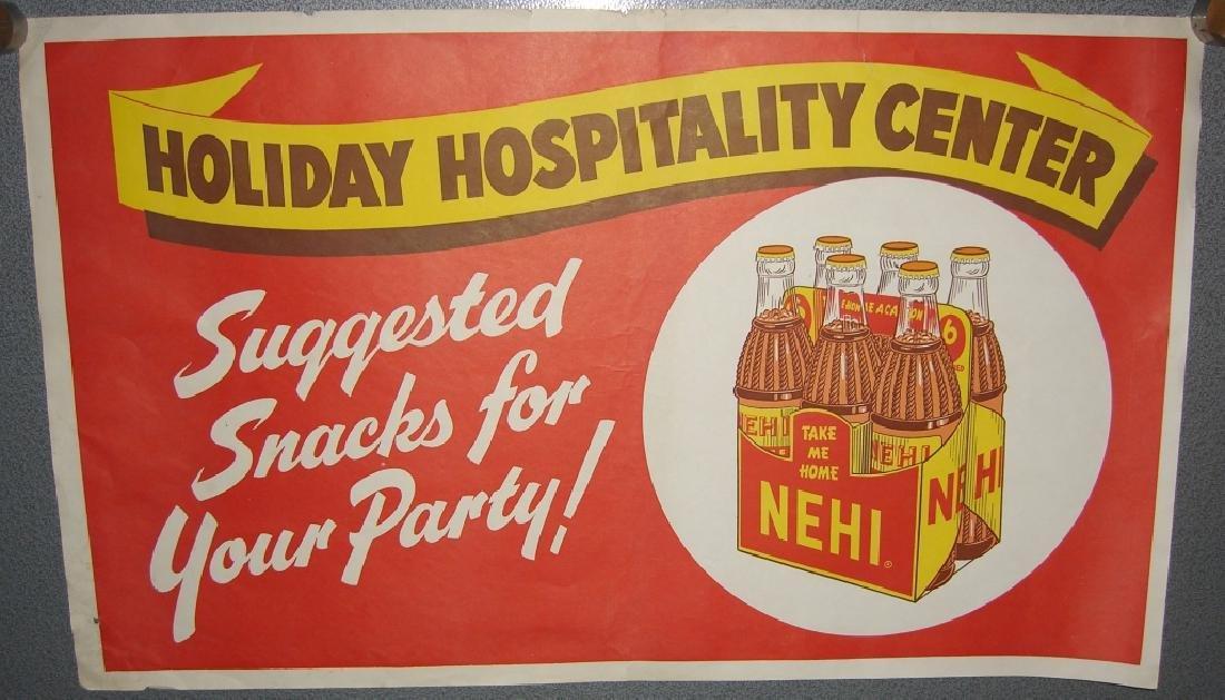 Vintage Nehi soft drink advertising store poster